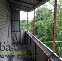 Заливка і зварювання з обшивкою балкона