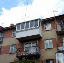 Капітальний ремонт балкона з розширенням плити - Ваш Балкон Львів