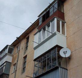 Ремонт балкона з виносом вперед 14