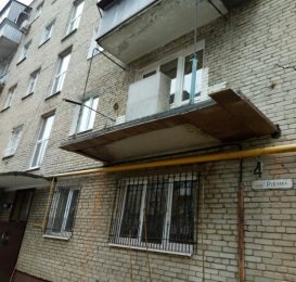 Розширення балкона по плиті Львів 8