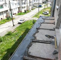 розширення плити балкона вперед у Львові 8