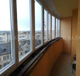 Скління заокругленого балкона у Львові 20