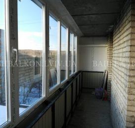 Зварка балкона з склінням у Львові 9