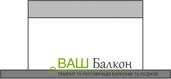 Збільшення балкона по фронтальному виносу
