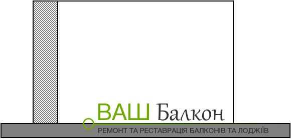 Збільшення балкона за рахунок бокових частин